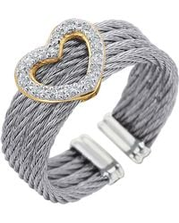 Charriol Diamond Heartstation Cable Ring silver - Lyst
