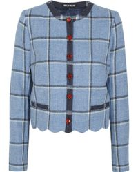 House Of Holland Coco Checked Wool Jacket - Lyst