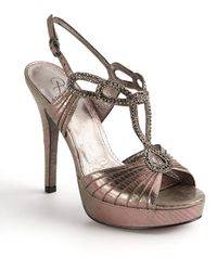 Adrianna Papell Madalen Embellished Strappy Sandals - Metallic
