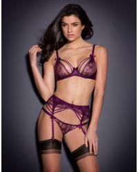 Agent Provocateur Tanya Suspender purple - Lyst