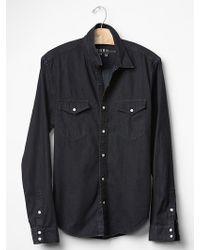 Gap Western Denim Shirt - Lyst
