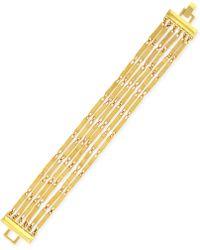 Vince Camuto - Gold-Tone Six-Row Chain Bracelet - Lyst