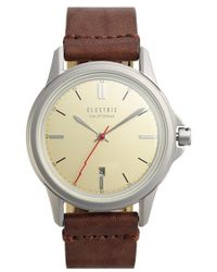 Electric - 'carroway' Leather Strap Watch - Lyst