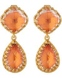 Larkspur & Hawk Orange Jane Drop Earrings - Lyst
