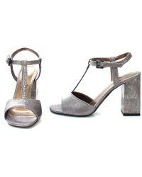 Lanvin T-Strap Sandal silver - Lyst