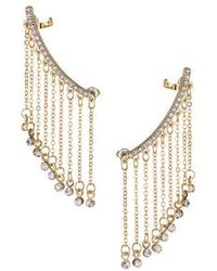Topshop Double Chain Earcuff gold - Lyst