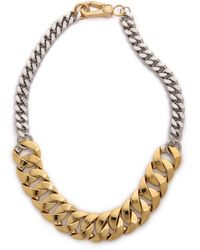 Marc By Marc Jacobs - Mixed Up Katie Link Choker Necklace - Oro Multi - Lyst