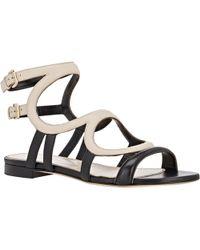 Sergio Rossi Arabesque Flat Gladiator Sandals - Lyst