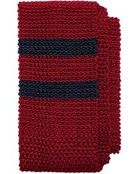 Brooks Brothers Placed Double Stripe Knit Tie - Lyst
