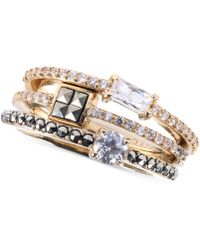Judith Jack Crystal (1-9/20 Ct. T.w.) And Marcasite Accent Ring Set - Metallic