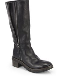 Marsell Leather Knee-High Boots - Lyst
