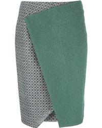 Prabal Gurung Panelled Midi Skirt - Lyst