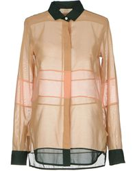 Celine Beige Shirt - Lyst