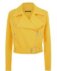 Christopher Kane Crepe Biker Jacket - Lyst