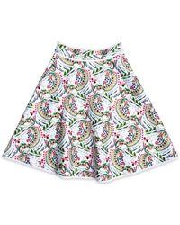 Cynthia Rowley Bonded Short Skirt - Lyst