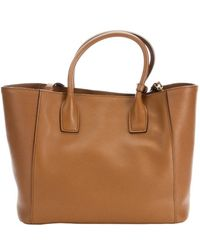 Prada Caramel Saffiano Leather Front Pocket Convertible Tote - Lyst