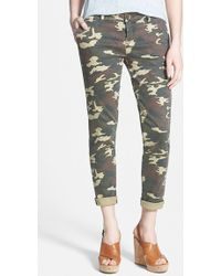 Kut From The Kloth Camo Ankle Trousers - Lyst
