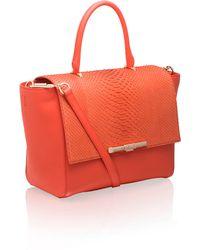 Amanda Wakeley The Newman Leather Top Handle Bag - Lyst