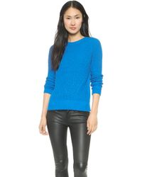 525 America Crop Crew Neck Cotton Sweater  Diva Blue - Lyst