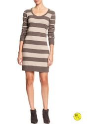 Banana Republic Factory Mixed Stripe Sweater Dress - Lyst