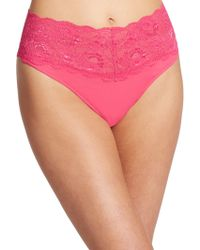 Cosabella Never Say Never Thong pink - Lyst