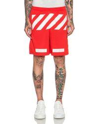 Off-White Men'S Striped Shorts - Lyst