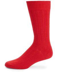 Saks Fifth Avenue Black Label - Ribbed Cashmere-blend Mid-calf Socks - Lyst