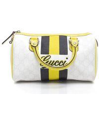 Gucci Preowned Monogram Canvas Mini Boston Bag - Lyst