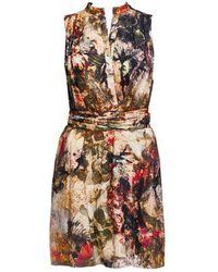 Alice + Olivia Berk High Low Shirt Dress multicolor - Lyst