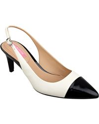 Isaac Mizrahi New York Social Slingback Court Shoes - White