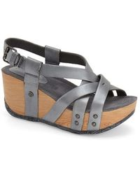 Bussola Orly Leather Sandals - Metallic