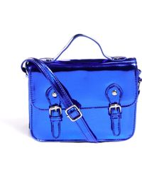 ASOS Asos Mini Satchel Bag with Metal Buckles - Purple