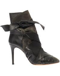 Isabel Marant Angie Leather Boots - Lyst