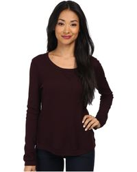 Splendid Thermal Pullover Top - Lyst