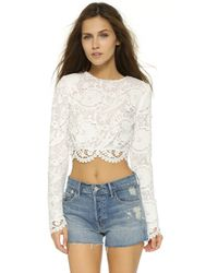 Stone Cold Fox - Punk Cropped Blouse - White - Lyst