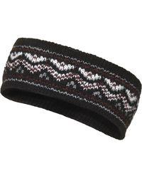 Topshop Black Fairisle Headband - Lyst