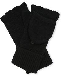 Rag & Bone Keighley Cashmere Fingerless Gloves black - Lyst