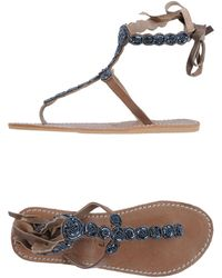 Laidbacklondon Flip Flops - Brown