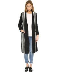 Laveer - Baja Striped Overcoat - Lyst