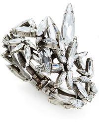 Ryan Storer Hinged Embellished Swarovski Crystal Cuff - Metallic