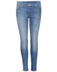 7 For All Mankind The Skinny Crop Jeans - Lyst
