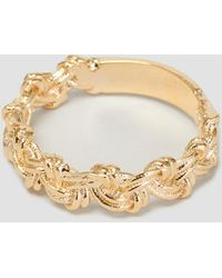 helena rohner loop braid goldplated ring gold plated lyst