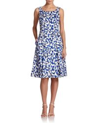 Carolina Herrera Gaspar-Print A-Line Dress - Lyst