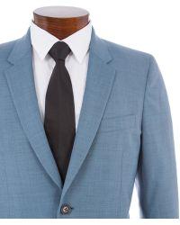 Paul Smith | Men's Slim-fit Sky Blue Crosshatch Wool-blend Suit | Lyst