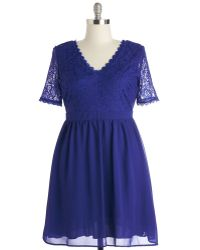 Mystic Fashion Craft Cocktails Dress In Cobalt - Lyst