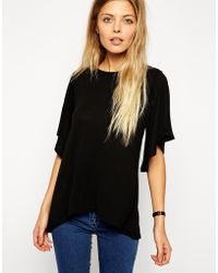 Asos Top with Frill Sleeve - Lyst