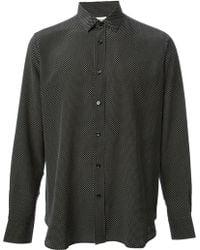 Saint Laurent Micro Dot Shirt - Lyst
