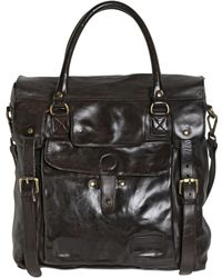 Officine Creative Brushed Leather Satchel - Lyst