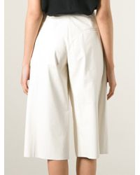 DROMe - Leather Culottes - Lyst