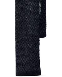 Ralph Lauren Black Label Knit Cashmere Herringbone Tie - Lyst